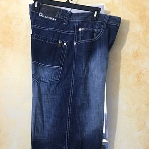 Men's Southpole Blue Jean Shorts Size 32.